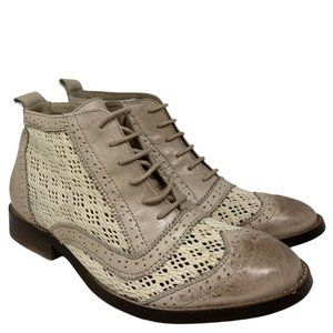 New Bronx Go Get Er Oxford Perforated Ankle Boots